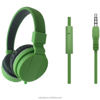 Stereo wired headset rubber finished headset for mobile
