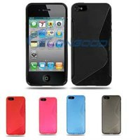 High Quality western S-Shaped TPU cell phone Case for iPhone 5 with all kinds of colors