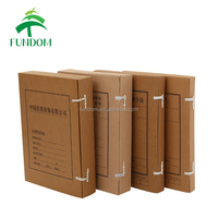 wholesale printed brown recycle document packing box a4 size paper box for archieves and portfolio