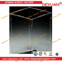 Self-assemble Custom Sizes Flat Packed Acrylic Display Box