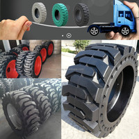 good price solid skid steer bobcat tires and wheels assembly 12x16.5 29.5x25 with puncture resistance