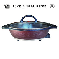 OVAL-SHAPED THERMAL HOT POT WITH DIVIDER ON SALE