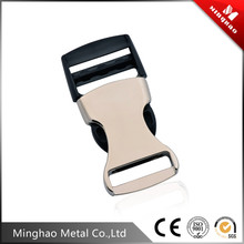 High-end zinc alloy metal side quick release curved buckles