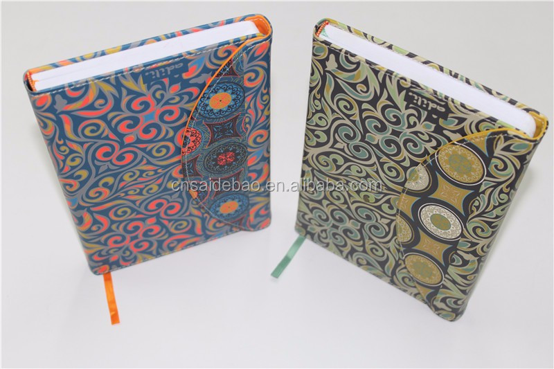 custom PU leather cover B4 size hardcover notebook with Magnetic buckle as closure