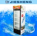 Upright refrigerated display showcase cooler