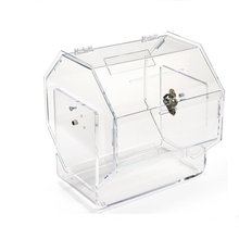 Tabletop Elegant Modern Large Clear Acrylic Raffle Drum with lock