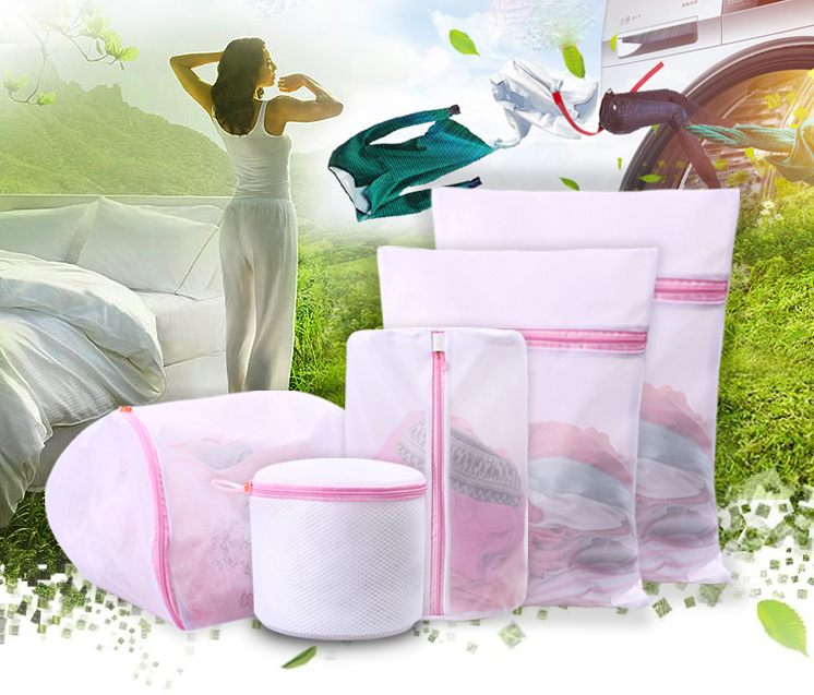 OEM Set of 5 mesh laundry wash bags for delicates, fine mesh coarse net underwear bra Special wash protect bag