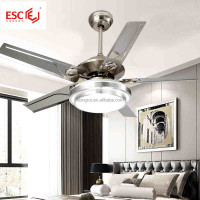 52 inch 3 speed wood electric light remote control fan lights