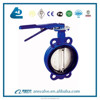 Concentric Slim Disc Wafer Type Butterfly Valve with Bare Shaft