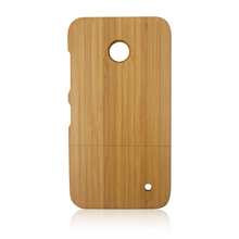 Unique Handmade Natural Wood Hard bamboo Case Wooden Cover for Nokia 630
