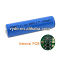 Li-Ion 18650 Cylindrical 3.7V 2400mAh Button Top Rechargeable Battery with PCB