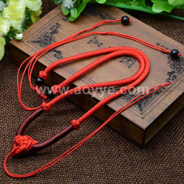 Wholesale adjustable exquisite handmade weaving Beads high end fashion girls beautiful flower necklace pendants jade line rope