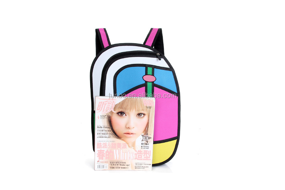 New Arrival best selling nylon 3d cartoon cute school backpack
