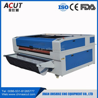 CNC computer co2 laser 80w auto feed fabric cutter with rectify device