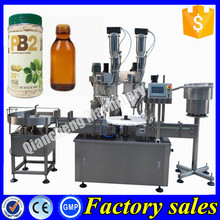 China automatic vial filling machine,50ml bottle liquor filling capping machine