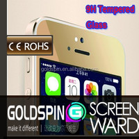 GOLDSPIN! Mirror Color Tempered Glass Screen Protector Gold For iPhone 5