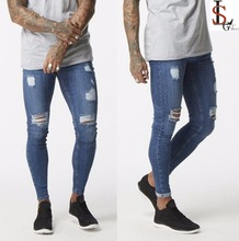 New style custom high quality urban wear mens denim jeans men super skinny ripped wholesale jeans from factory direct