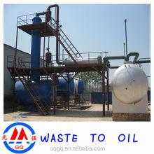 Tyre Oil Recycling Machine to diesel and gasoline with ISO and CE