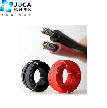 JOCA thinned copper conduct 6mm2 dc solar cable 0.6kv TUV Certificate
