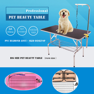 Folding Adjustable Pet Grooming Table,Dog and Cat Bath Wash Table
