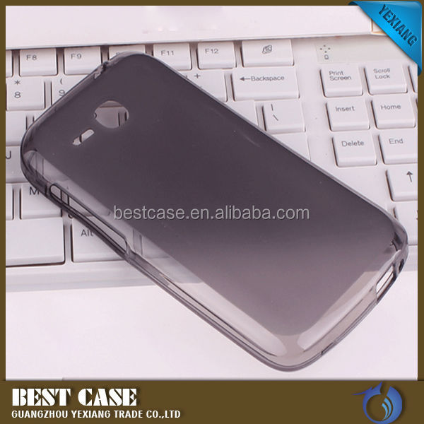 Hot Selling Matte Cover TPU Case For Huawei Ascend Y600 Clear Bumper