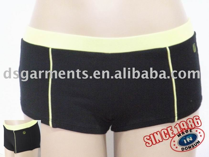 Women's sports boyleg underwear