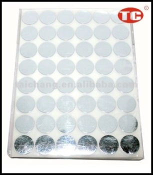 Silver cast Self Adhesive Note Label