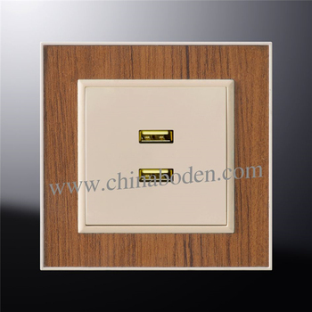New products german usb outlet wall plate socket