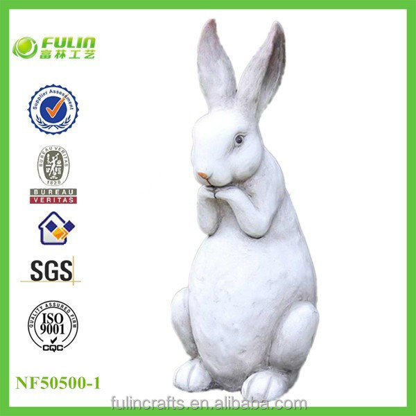 Handmade Custom Resin Garden Easter Rabbit for Wholesale