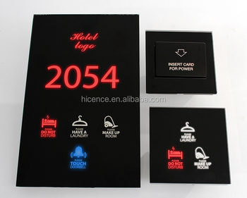 Special Private Design Colors to Show Room Status DND MUR Wait Hotel Door Plate System