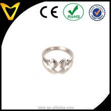 Kiss fish lovers forever love ring,court ring for girls amimal element silver band two kissing fish women ring
