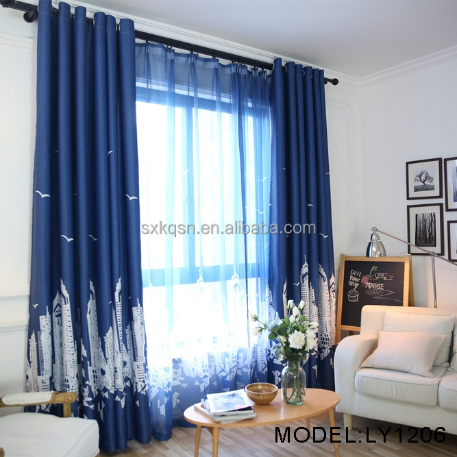 Latest producing modern city luxury living room window curtain