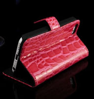 CROCO Pattern Design Wallet Case New Arrival with 2 card holders
