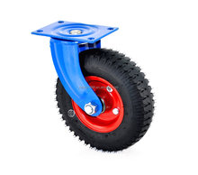 2.50-4 rubber Pneumatic tyre castor wheels with swivel