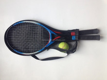 Steel Alloy Tennis Racket Set for 2-Players with 1-tennis ball