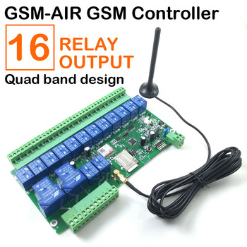 GSM relay switch controller 16 Way SMS texts for switching relay with dialling-in remote control