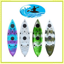 New colour for 2015 single sit on top fishing kayak in china made cheap price