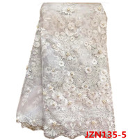 French Lace Fabric/ Tulle Net With beads Wedding Dress high quality fashion tulle lace