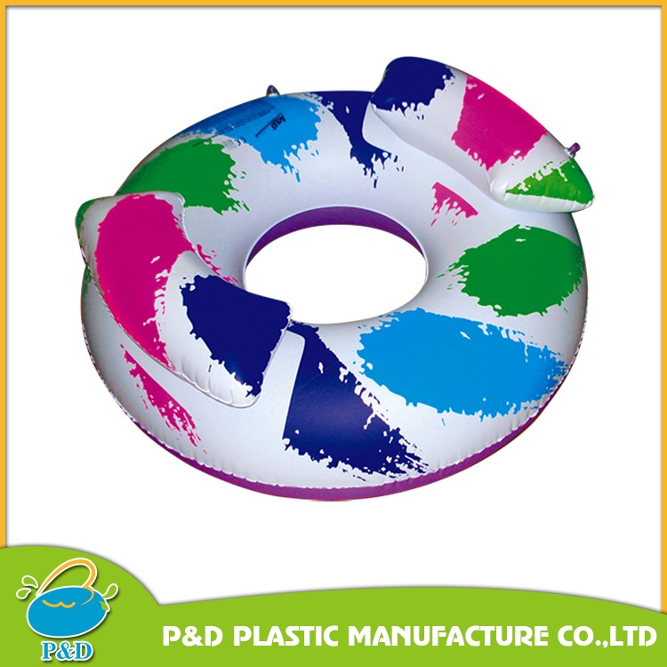 factory direct sell wholesale pvc inflatable shark fin swimming ring