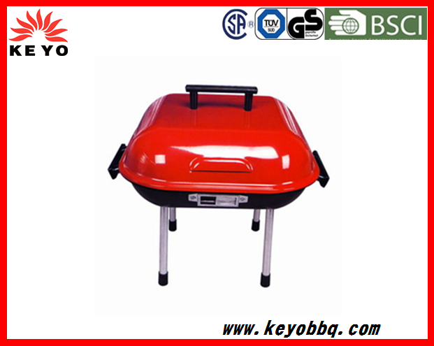 KEYO small cheap promotional portable BBQ grill 14 inch small hamburger grill