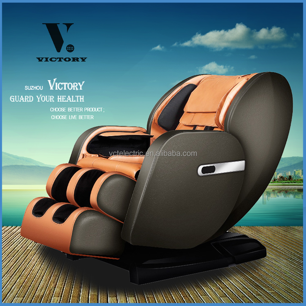 High end products full body leather recliner massage chair 4d zero gravity