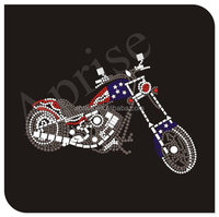 motorcycle rhinestone heat transfer iron on rhinestone transfer
