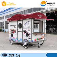 Stainless Steel Food Bus Ice Cream Cart for Sale