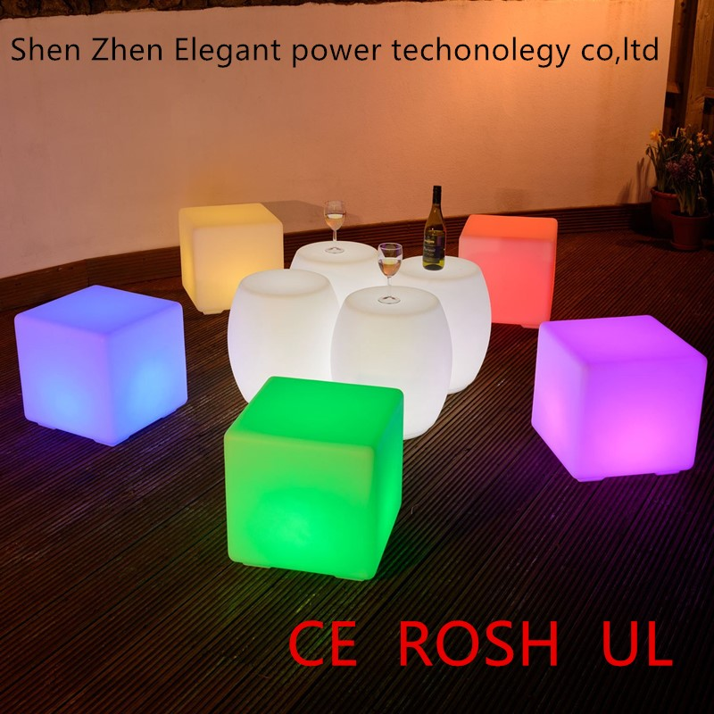 Cool bar/club/party/wedding illuminated plastic chair making machine led cube rgb 10x10x10cm