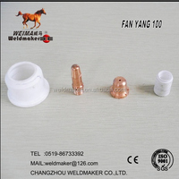 Plasma consumable nozzle/electrode/diffuser/shield for FANYANG G-100 plasma cutting torch