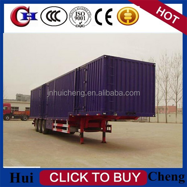 2015 widely used and high quality van/box semi trailer for sale