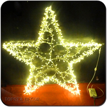 Christmas ornaments light decorative metal hanging star