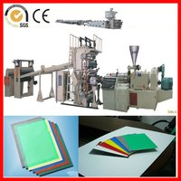PP/PE/PVC cabinets doors sheet/plate extruder machine