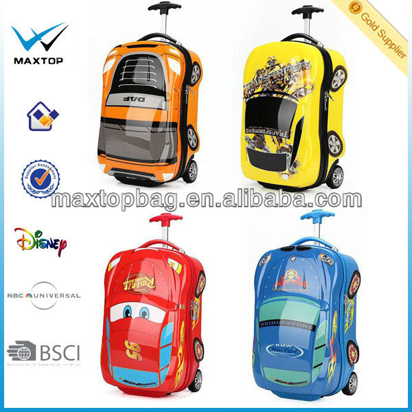 18 Inch Abs Kids Car Shape Luggage Trolley - Buy Luggage Trolley ...
