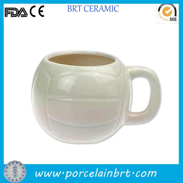 Volleyball shaped ceramic promotional Mug Cup
